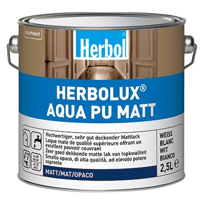 Bild: Herbol Herbolux Aqua PU  Matt 2,5ltr Weiss