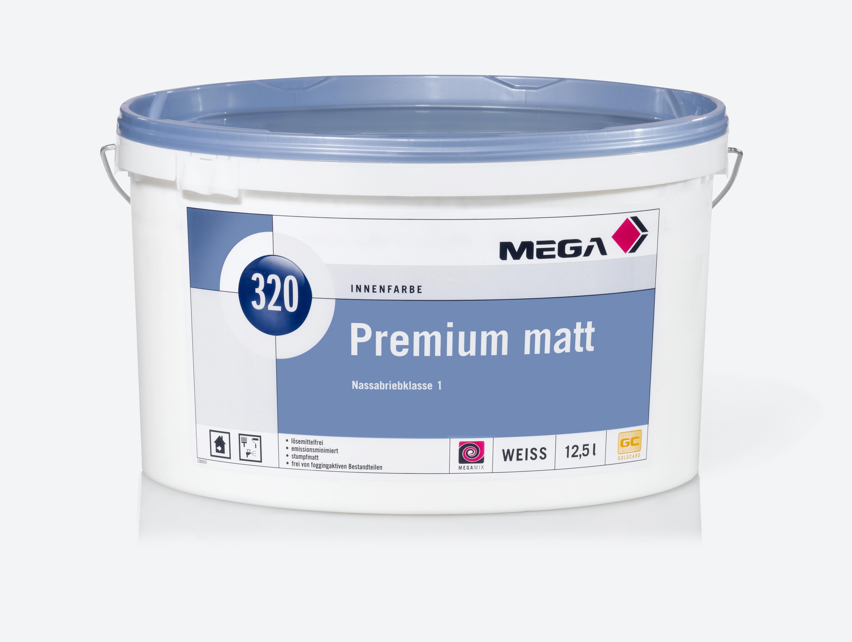 Bild: Mega 320 Premium Matt weiss 12,5 Liter